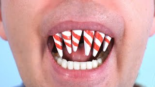 TEETH MADE OF CANDY CANES!