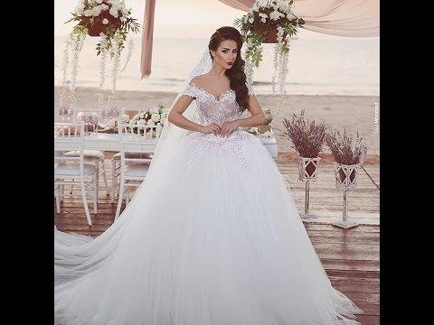 5244af0da5b87 صور فساتين زفاف2016 -2017.احدث فساتين زفاف - YouTube