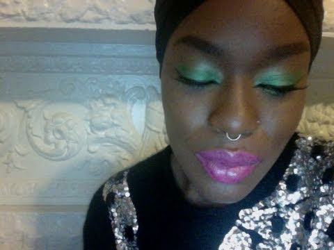 Bright Green Eyeshadow Pink Lips For Brown Skin For Spring