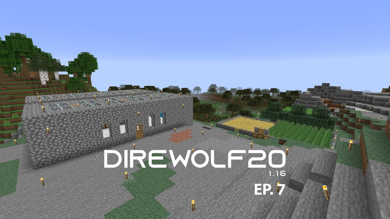 Direwolf20 1 16 Modpack Ep 7 Minecraft Industrial Foregoing Tree Farm Youtube