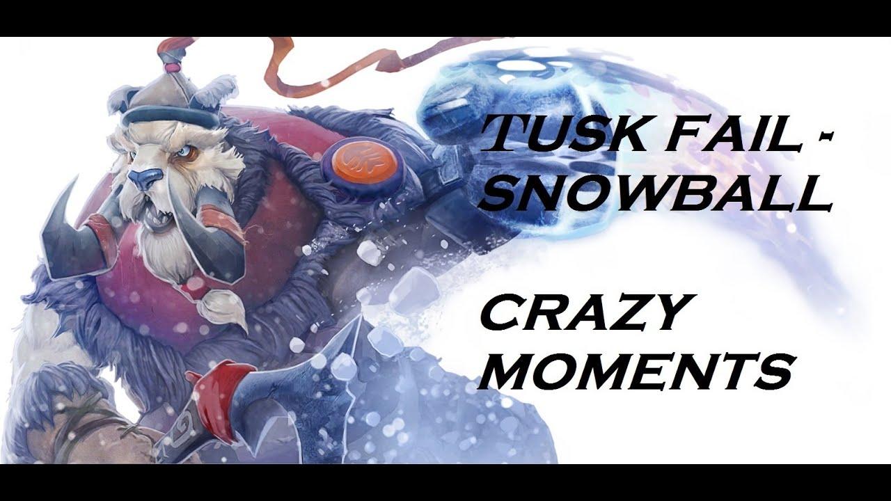 dota 2 crazy moments 1 tusk fail snowball phoenix thug life