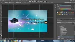 Видео урок №2 ( adobe Photoshop CS6) | (как сделать шапку на канал Youtube)