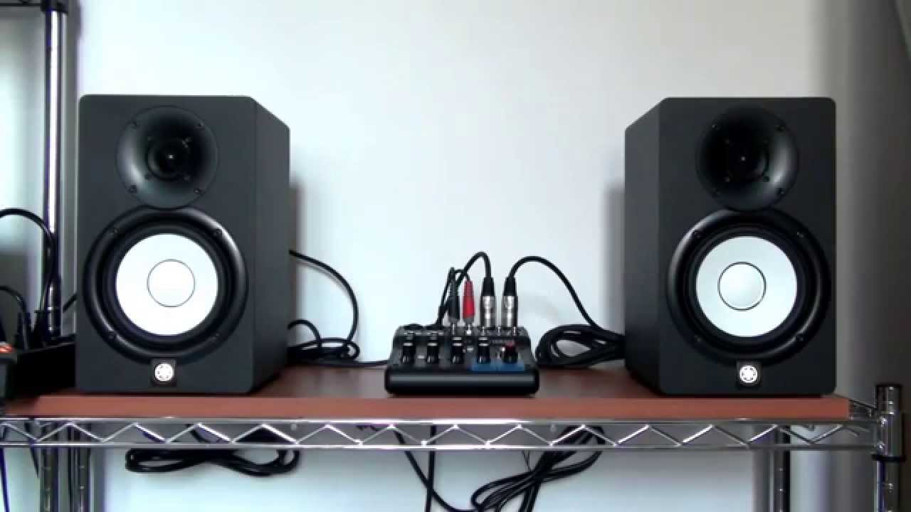speakers yamaha hs5 amplified youtube