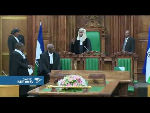 Heated exchanges at the 10th Parliament of Lesotho sitting
