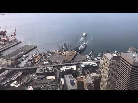 Elliott Bay from Columbia Tower