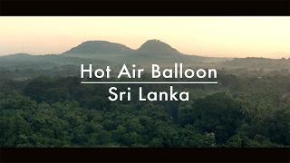 Sunrise hot air balloon in Sri Lanka