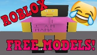Looking at the Funny Roblox Free Models...