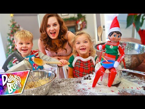 Baking With Our Elf on the Shelf!