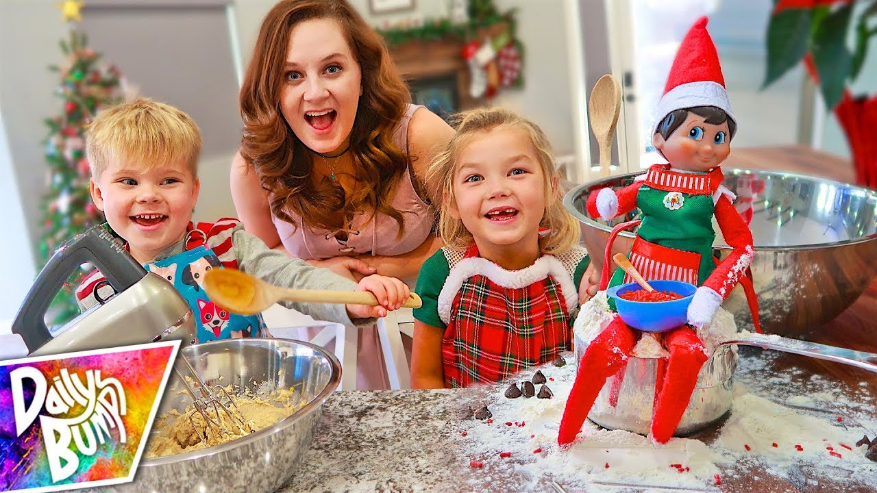 Christmas Elf On The Shelf Images.Baking With Our Elf On The Shelf