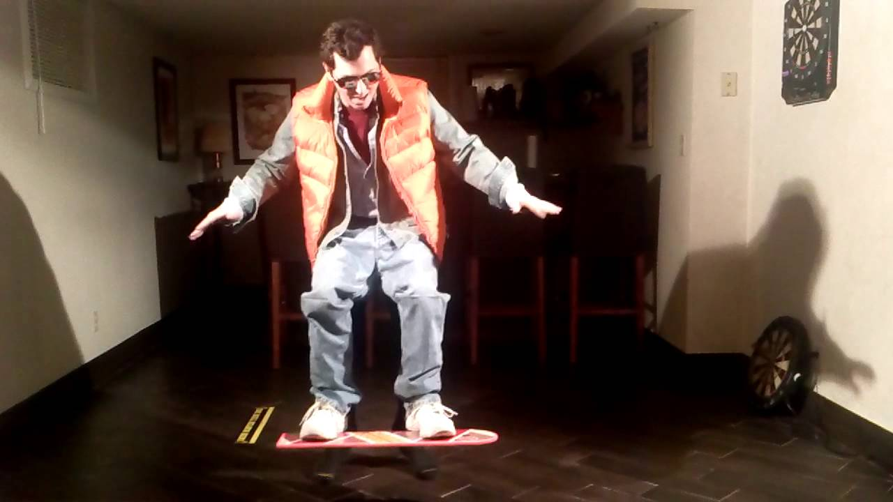marty mcfly hoverboard halloween costume youtube. Black Bedroom Furniture Sets. Home Design Ideas