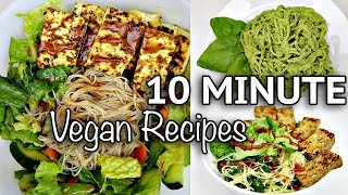 EASY VEGAN NOODLE RECIPES FOR LAZY DAYS (10 MINUTE RECIPES)