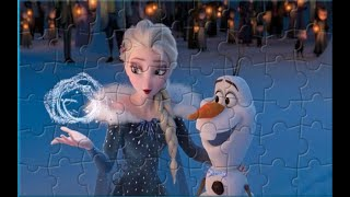 Пазлы Холодное Сердце. Эльза и Олаф. Elsa and Olaf. Disney Frozen Puzzle Video Games