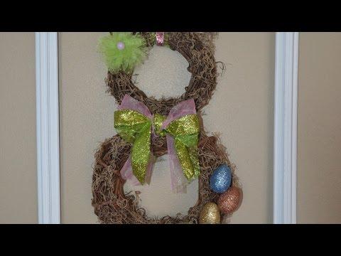 Make an Adorable Spring Easter Bunny Wreath - DIY Home - Guidecentral