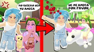 😲 BAD CHILD DOES NOT WANT TO BE MY FRIEND UNTIL YOU LOOK AT MY UNICORNIO🦄ADOPT ME - ROBLOX