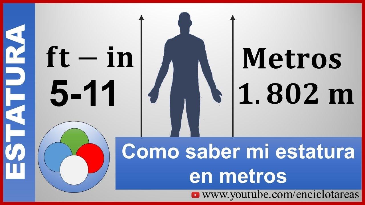 Cómo Saber Mi Estatura En Metros M Ft In A Metros