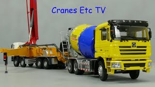 Yagao XCMG HB56K Concrete Pump + XCMG Mixer by Cranes Etc TV