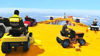 CRAZY LAWNMOWER! - GTA 5 Funny Moments #737