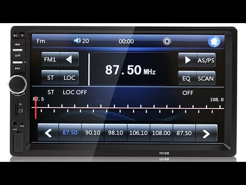 Set FM Presets on the 7018B Chinese 7-inch 2 Din Car MP5 Touch Screen Player