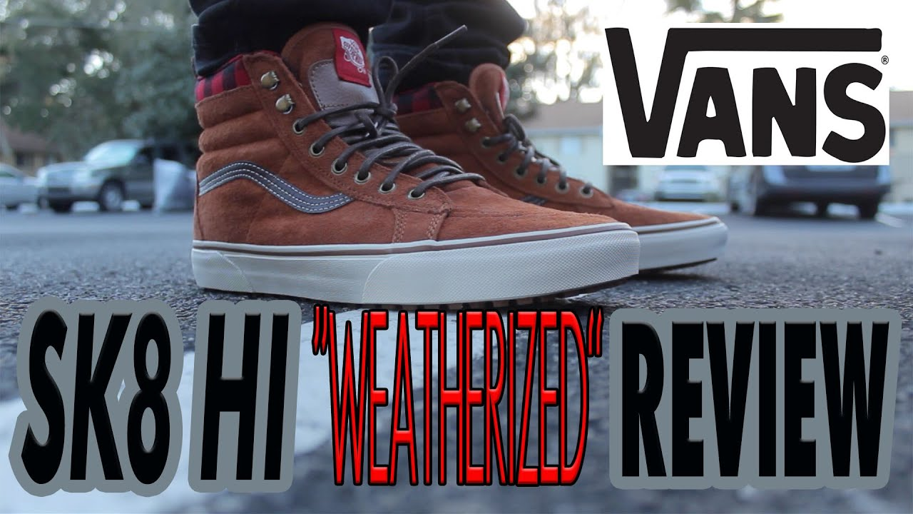 376b925433 Vans SK8 HI Weatherized MTE REVIEW ON FEET - YouTube