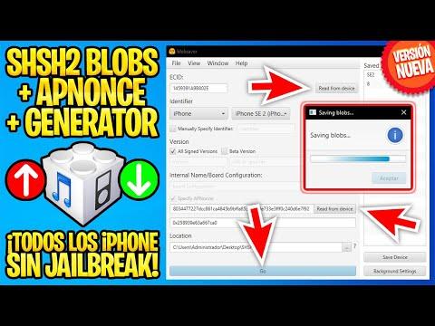 TUTORIAL 3 CLICKS ✅ ¡BAJA DE iOS! Guarda AHORA tus SHSH en cualquier iPhone/iPad (BlobSaver 3)