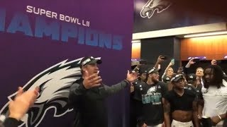 Doug Pederson pumps up Eagles locker room after win over Patriots in Super Bowl LII | ESPN