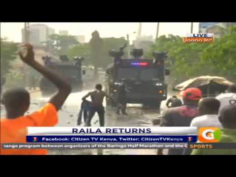 Ups and down with the police as Raila enters central business district