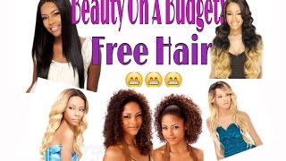 beauty on a budget   how to get weave wigs for free