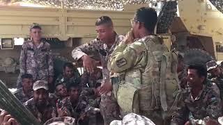 السفارة الامريكية تنشر فيديو لجندي امريكي واردني يغنون الراب
