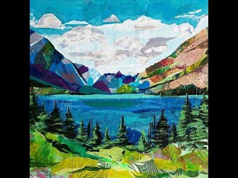 """Making a Landscape Collage 2 """"Glacier National Park"""" - YouTube"""