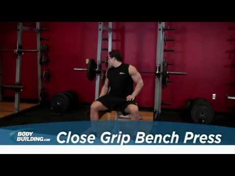 Close Grip Bench Press - Tricep / Chest Exercise - Bodybuilding.com