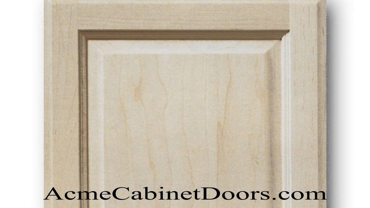 Unfinished Maple Raised Panel Cabinet Door Youtube