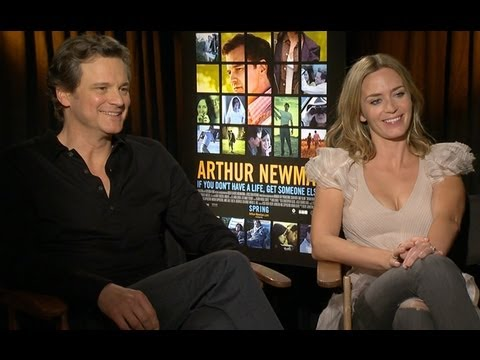 "Colin Firth and Emily Blunt Reveal The Secret To Shooting Love Scenes on ""Arthur Newman"""