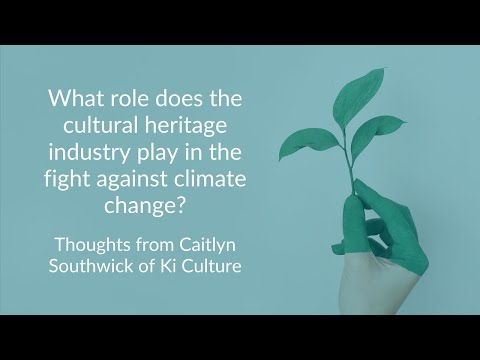 What role does the cultural heritage industry play in the fight against climate change?