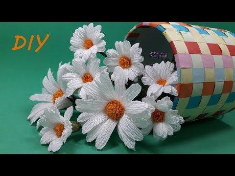 Paper Daisy Flower | Paper flowers making | DIY paper flower easy