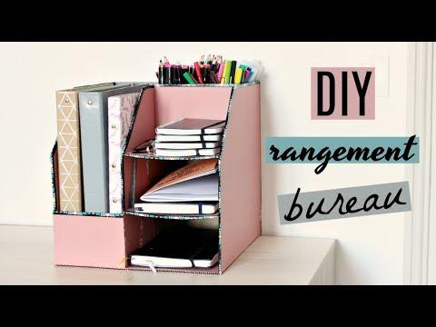diy rangement en carton pour les fournitures de bureau. Black Bedroom Furniture Sets. Home Design Ideas