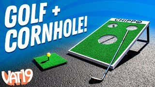 Can We Sink the Ball? Cornhole Golf Club Challenge!
