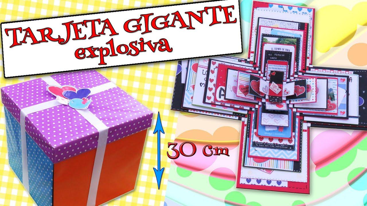 Tarjeta Gigante Explosiva Amor Felicitaciones Días Especiales Youtube