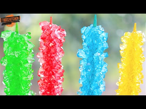 How to make rock candy on a stick fast