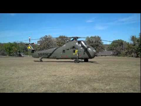 """Sikorsky UH-34D """"Ugly Angel"""" YL-37 helicopter take-off"""