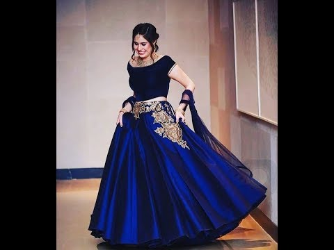 2019 year for girls- Wedding Blue dress with sleeves pictures