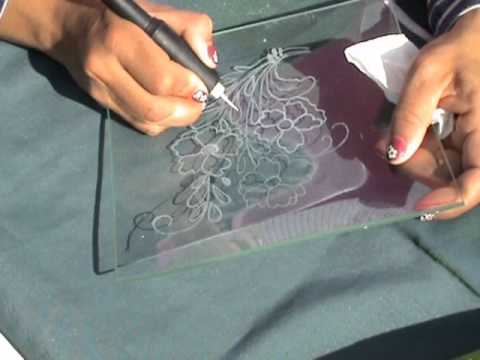 How to carve glass tray with dremel or similar como tallar - Accesorios para dremel ...