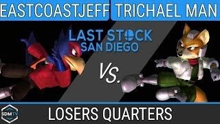 lssd 80 eastcoastjeff falco vs trichael man fox ssbm losers quarters smash melee