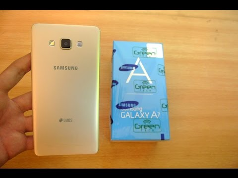 Samsung Galaxy A7 GOLD - Unboxing, Setup & First Look HD