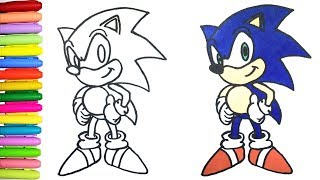 How to Draw and Color Sonic the Hedgehog for Kids