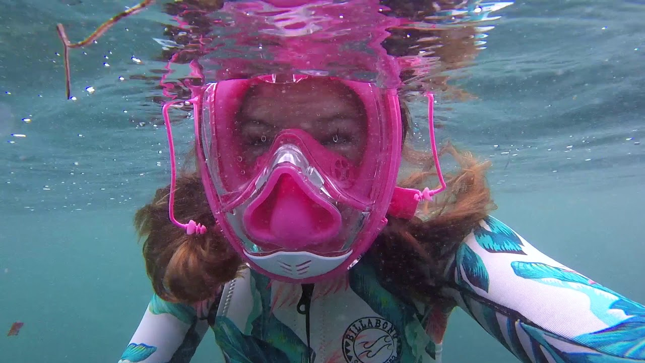 NEW 2019! Equaliser Full Face Snorkel Mask - Pinch Your Nose & Universal  Size