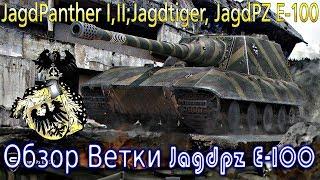 Обзор ветки Jagdpanzer E 100. От Jagdpanther  к топу. Что вас ожидает?💥