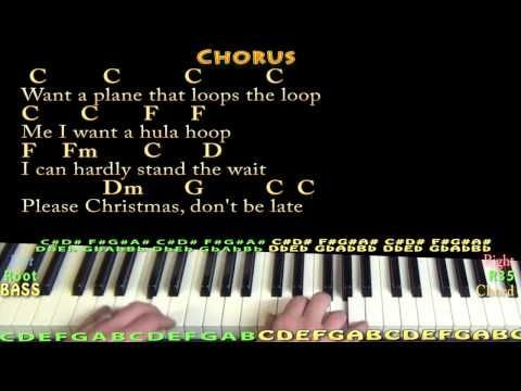 Christmas Don't Be Late - Piano Cover Lesson in C with Chords/Lyrics