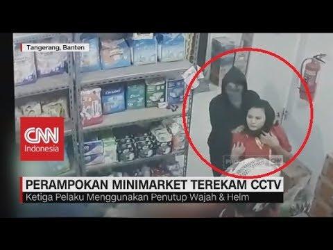 Perampokan Minimarket di Tangerang Terekam Kamera CCTV