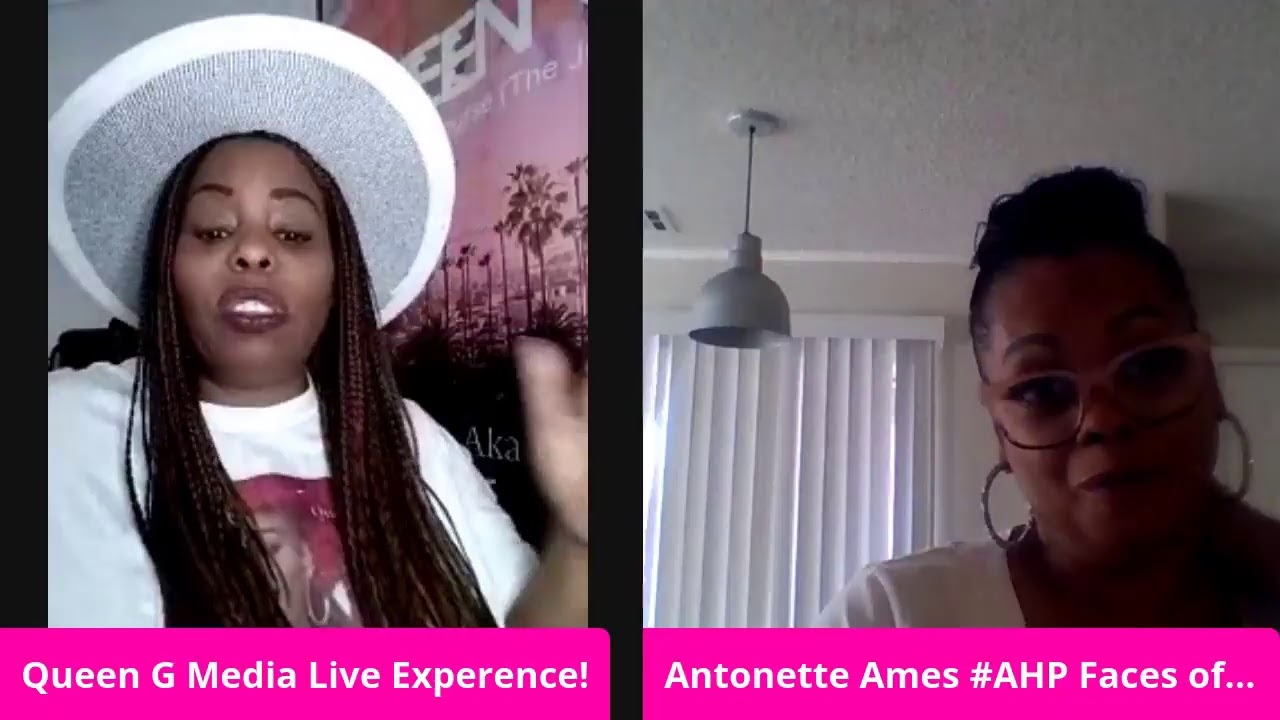 Queen G interview with Rap Mother Ames Antonette CEO of Ames High Productions