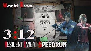 RESIDENT EVIL 2 REMAKE DEMO SPEEDRUN 3:12 (3rd attempt)  PS4 PRO 4K HDR